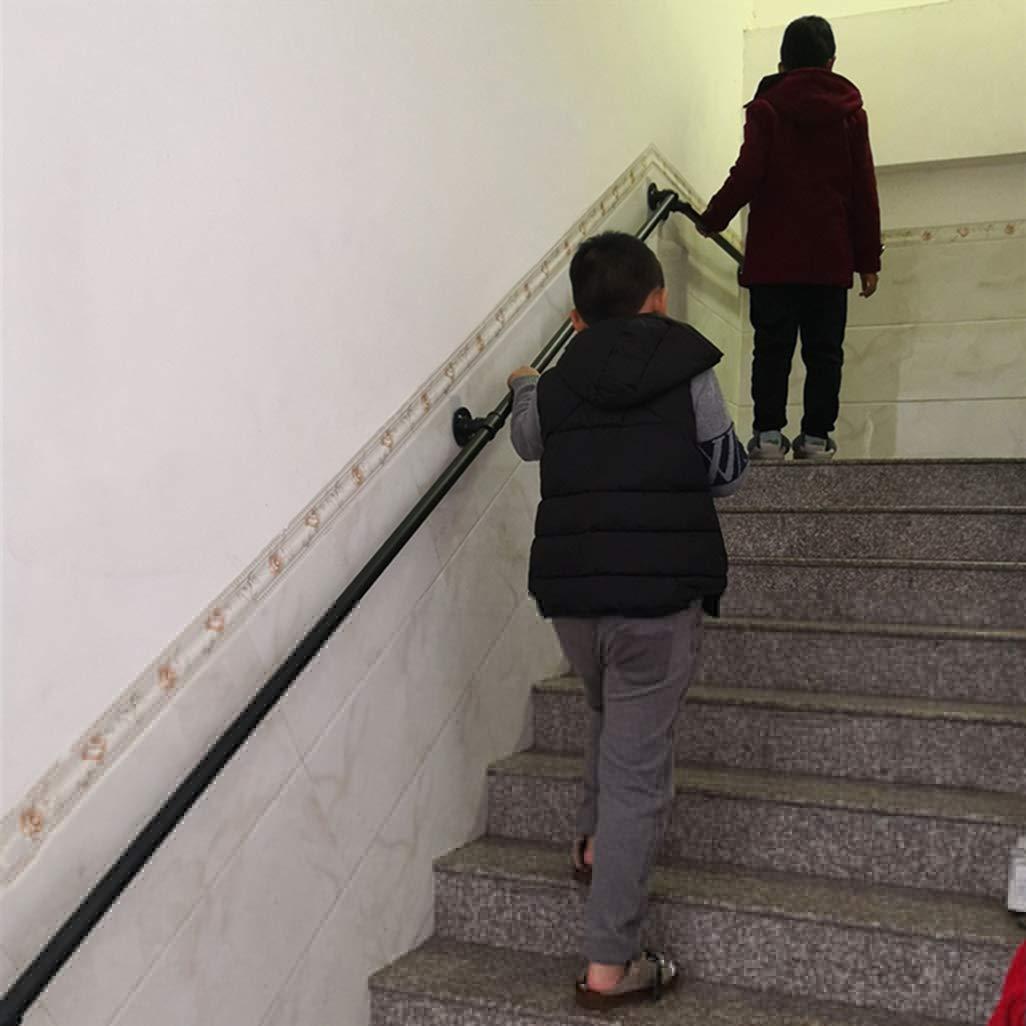 Leilims Seguridad Industrial Pared pasamanos Kit de 30~300cm escaleras o parapeto Soporta 250KG Tuber/ía de Hierro de la Escalera toallero barandilla Cepillado Barra sujeci/ón ba/ño Balc/ón