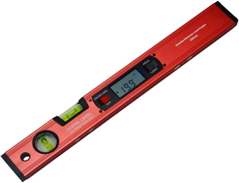 Winkelmesser 0 360 /° 16 Zoll Neigungsmesser Mit Digitaler Wasserwaage rot