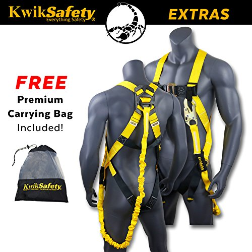 KwikSafety SCORPION   Safety Harness w/attached 6ft. Tubular Lanyard on back   OSHA Approved ANSI Compliant Fall Protection   INTERNAL Shock Absorbing Lanyard   Construction Carpenter Scaffolding … by KwikSafety (Image #3)