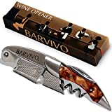 Professional Waiters Corkscrew by Barvivo – This Bottle Opener for Beer and Wine Bottles is Used by Waiters, Sommelier and Bartenders Around the World. Made of Stainless Steel and Gold Resin. For Sale