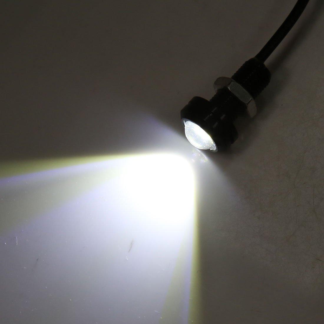 Amazon.com: eDealMax 12pcs Blanco 5630 SMD 2 LED DE 18 mm de Eagle Eye coche parachoques DRL luz de niebla de 12V 1.5W: Automotive
