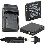 Battery (2-Pack) and Charger for Panasonic Lumix DMC-FX30, DMC-FX33, DMC-FX35 Digital Camera