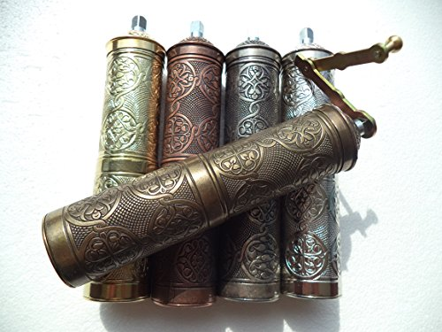"""Traditional Authentic Handcrafted Turkish Brass Coffee Grinder Mill Coarse Adjustable 8.7"""" Zamak – Antique Copper Color Review"""