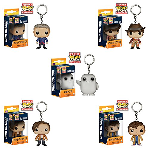 Funko POP Keychain Figures: Doctor Who Set of 5 Figures - Includes Adipose, Dr #4, Dr #10, Dr #11 & Dr #12