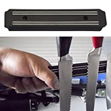 Kangkang@ Wall-mounted Magnetic Self-adhesive 7.8 inches Length Knifes Holder Stainless Steel Block Magnet Knife Holder Rack Stand For Knifes