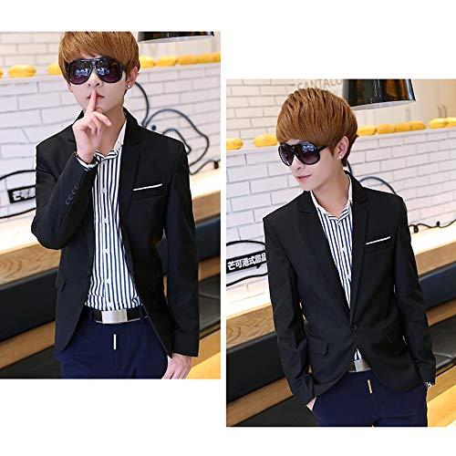 Mode Formelle Slim Blazers Costumes Blousons Longues Fit Manches Xfentech Casual Manteau Noir Hommes Vestes UxCccwaYdq