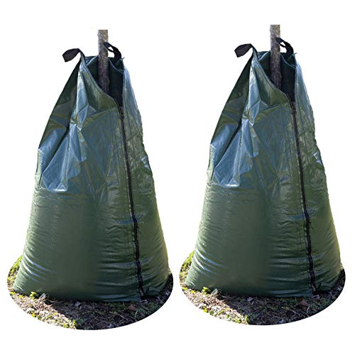 2 Pack-Upgraded 20 Gallon Tree Watering Bag, Heavy-duty Slow Release Watering Bag, Planting Water Bag, Portable Tree Drip Irrigation Bag, Water Saving Irrigation Water System, Great for Newly Planted by Highlight