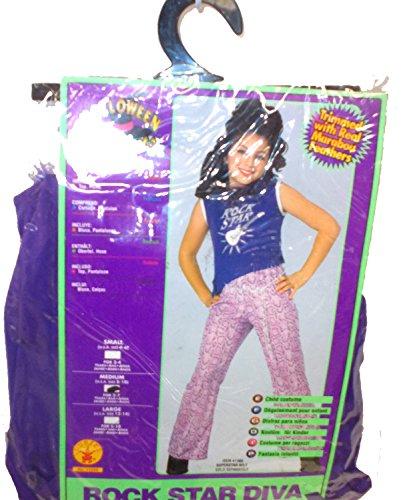Purple Pop Star Diva Superstar Costume Girls Child NIP M (Pop Star Diva)