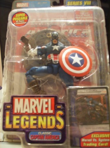 Marvel Legends Series 8 Ultimate Classic Captain America Variant Action Figure by Toybiz