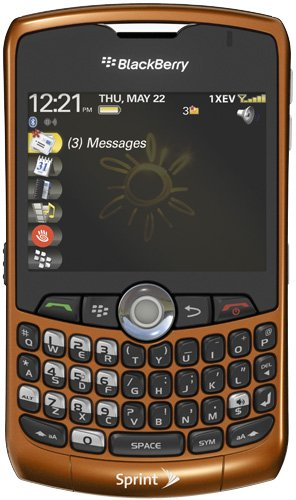 - BlackBerry Curve 8330 - Smartphone - CDMA2000 1X - QWERTY keyboard - BlackBerry OS - orange - Sprint