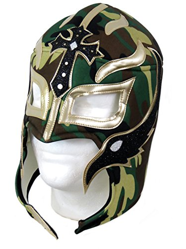 Leos Imports Rey Mysterio Adult Lucha Libre Wrestling Mask - Camo by Leos Imports