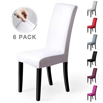 Fundas para sillas Pack de 6 Fundas sillas Comedor Fundas elásticas, Cubiertas para sillas,