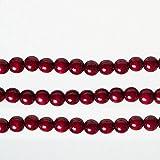 Kurt Adler Burgundy Finish Wood Berry Round Bead Garland, 9 Feet Length, Set of 3