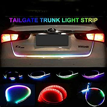 FLOW LED STRIP TRUNK DICKY BOOT Tail Lights Streamer Brake - Car signal light