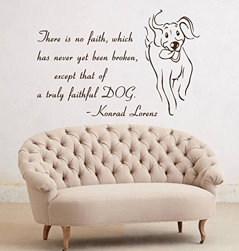 Wall Decals Dog Quote There Is No Faith Which Has Never Yet Been Broken Pet Shop Art Vinyl Decal Sticker Kids Nursery Baby Room D¨¦cor by Wall Decall Art