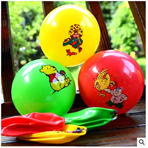 VT BigHome Inflatable Ball Bouncing Ball Kids Pool Swimming Splash Play Party Water Game Toys Inflatable Cartoon Ball by VT BigHome