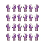 Atlas Fit 370 Showa Nitrile Purple Extra-Small Garden Work Gloves, 12-Pairs