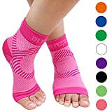 BLITZU Plantar Fasciitis Socks with Arch Support, Foot Care Compression Sleeve, Eases Swelling & Heel Spurs, Ankle Brace Support, Relieve Pain Fast Pink L-XL
