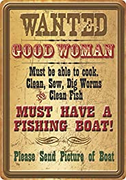 Rivers Edge Products Wanted Good Woman Tin Sign, 16-Inch