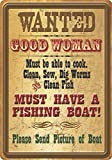 River's Edge Products Wanted Good Woman Tin Sign, 16-Inch