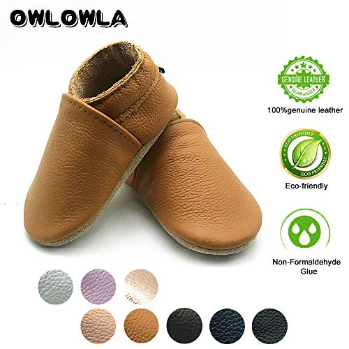 a8514819a149 Owlowla Baby Soft Sole Leather Crib Shoes Infant Toddler Pre-Walker Shoes  Boy Girl