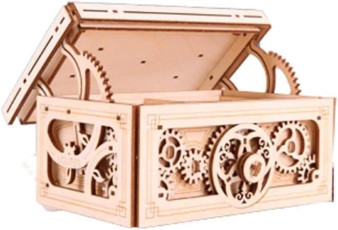 Caja Musical de Madera ensamblada Mecanismo de Doble Capa Caja de Joyas de música Anillo de propuesta Caja 520 Regalo para Regalo de Novia: Amazon.es: Hogar
