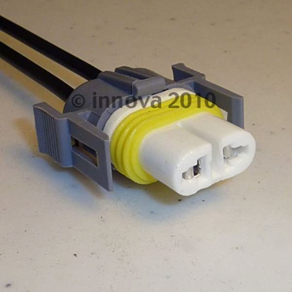 amazon.com: h11 high temperature ceramic headlight plug (connector or  socket) harness with usa made 14 gauge wires and moisture seals: automotive  amazon.com