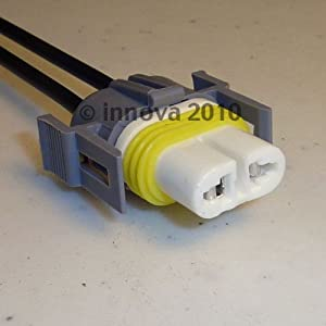 amazon com h11 high temperature ceramic headlight plug connector h11 high temperature ceramic headlight plug connector or socket harness usa made 14 gauge wires and moisture seals