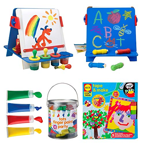 Tabletop Alex Easel - Alex My Tabletop Easel, Tots Finger Paint Party and Little Hands Tape and Make, Learning Toys, Arts & Crafts, Drawing, Creativity, Painting, Imaginative, Preschool, Educational