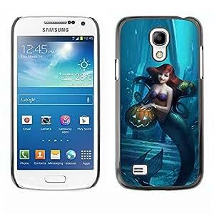 Paccase / SLIM PC / Aliminium Casa Carcasa Funda Case Cover - Halloween Blue Kids Children - Samsung Galaxy S4 Mini i9190 MINI VERSION!