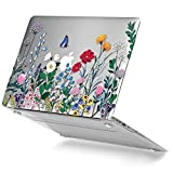 GMYLE Springtime Floral Garden MacBook Air 13 inch Hard Plastic Case Crystal Soft-Touch Scratch Guard Cover for MacBook Air 13 (Model: A1369 & A1466)