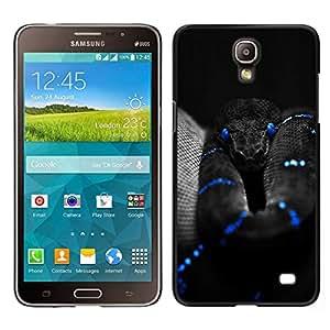 EJOY---Cubierta de la caja de protección para la piel dura ** Samsung Galaxy Mega 2 ** --Negro Serpiente Azul Mamba Naturaleza Veneno