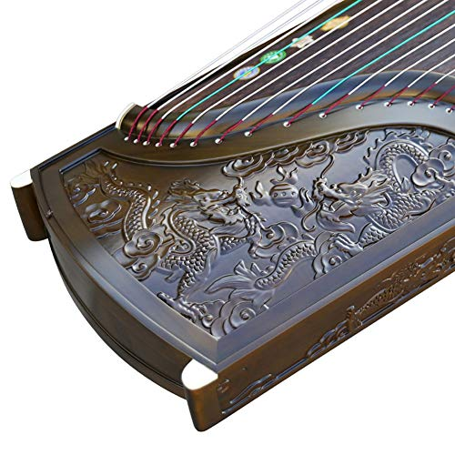 Chinese Traditional Musical Instrument Guzheng Jinsi Nanmu Hand-Carved Dragon National Stringed Instrument Professional…