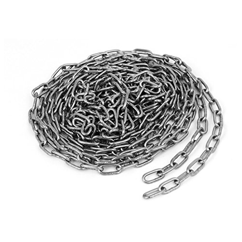 uxcell Pet Training Clothes Hanging 304 Stainless Steel Coil Chain Silver Tone M2x14.8Ft by uxcell
