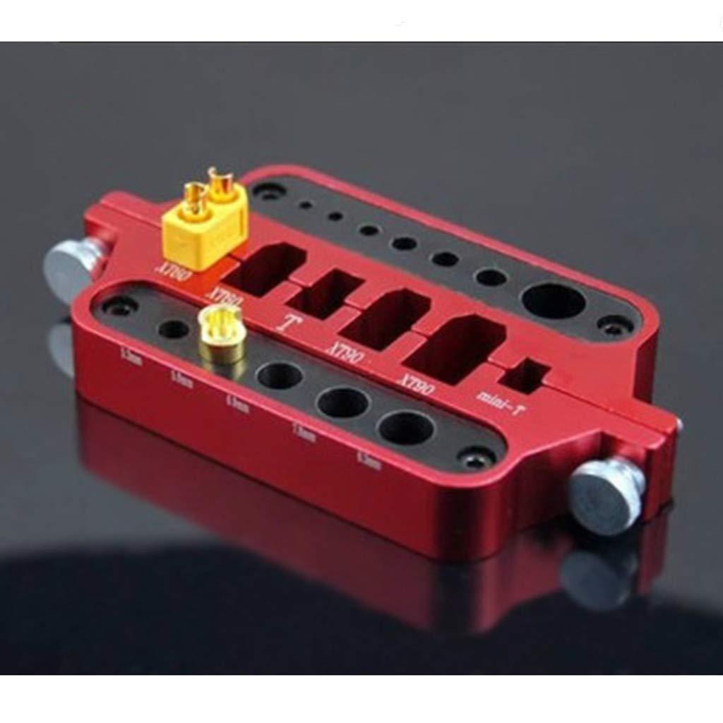 Yagii Aluminum jig Soldering Aid Station Rc Connector XT60//90 TPlug Bullet Aluminum alloy