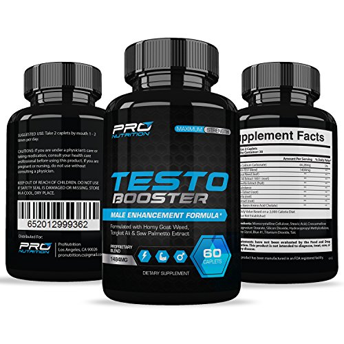 Testosterone Booster Extra Strength - Naturally Increases Energy, Strength, Muscle Mass, Stamina, Endurance. Promotes Weight Loss & Fat Burning.
