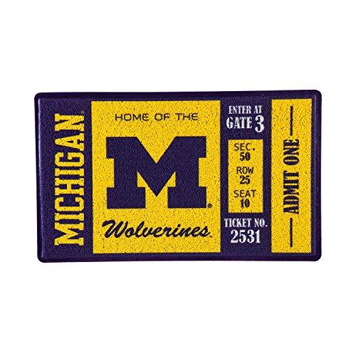 - Team Sports America University of Michigan Recyclable PVC Vinyl Indoor/Outdoor Weather-Resistant Team Logo Door Turf Mat