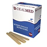 Dealmed 6'' Senior Tongue Depressors, Non-Sterile, 500 count