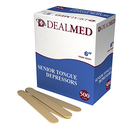 Dealmed 6'' Senior Tongue Depressors, Non-Sterile, 500 count by Dealmed