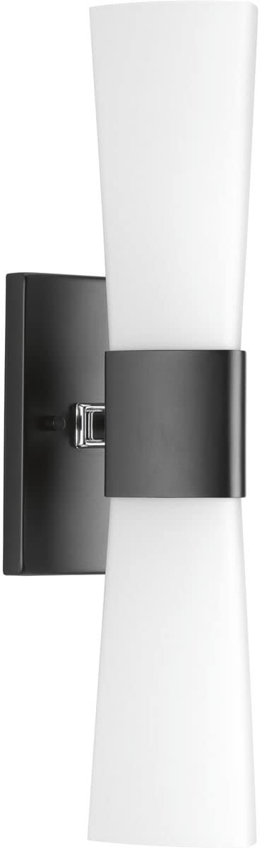 Progress Lighting P300062-031 Zura Black Two-Light Bath Vanity,