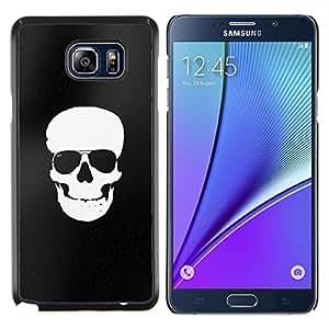 """For Samsung Galaxy Note5 / N920 Case , Negro blanco del cráneo minimalista Sombras"""" - Diseño Patrón Teléfono Caso Cubierta Case Bumper Duro Protección Case Cover Funda"""