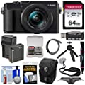 Panasonic Lumix DC-LX100 II 4K Wi-Fi Digital Camera 64GB Card + Battery & Charger + Case + Tripod + Strap Kit