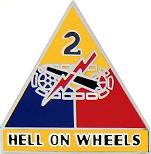 2nd Armored Division Small Hat Pin (Armored Division Small Hat Pin)