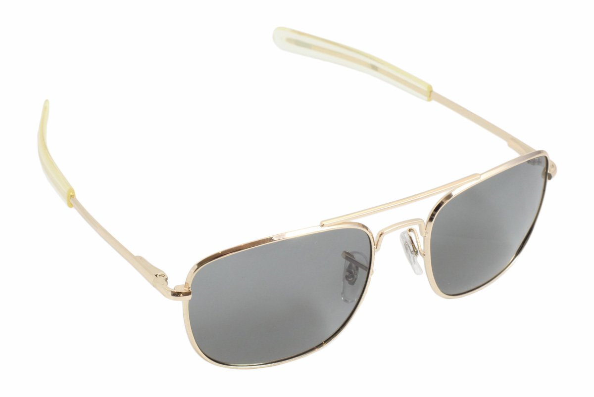 d0c56edf8f Amazon.com  CampCo HUMVEE HMV-52B-GOLD Polarized Bayonette Style Military  Sunglasses with Gray Lenses and Gold Frame