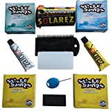 STICKY BUMPS WAX plus SOLAREZ- UV-CURE Resin, Ding Repair Kit, NOW includes A FUTURES FIN KEY, (2) Bars of Tropical Wax, Basecoat, Cool Wax and a FLEXCOMB to Clean Your Board.