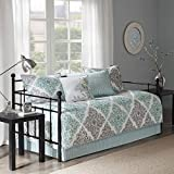 Madison Park MP13-3972 Claire 6-Piece Daybed Cover Set44; Aqua
