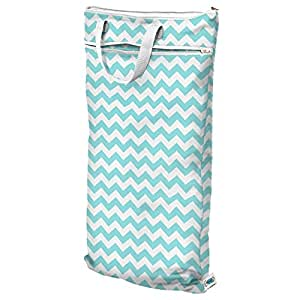 Planet Wise Hanging Wet/Dry Bag, Teal Chevron