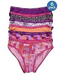 Calvin Klein Girls Graphic 6PK Bikini Panty