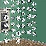 Elaco Christmas Winter Wonderland Christmas 3-D Snowflake Hanging Party Decoration