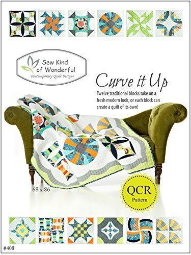 Curve It up Quilt Pattern: Twelve Traditional Blocks Take on